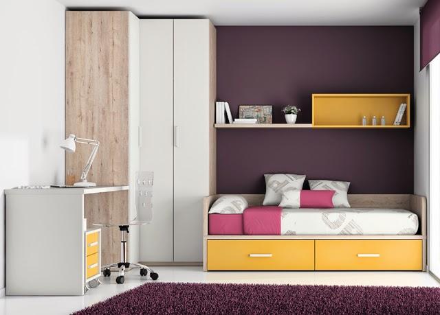 Muebles dormitorios juveniles online singul rea - Distribucion habitacion juvenil ...