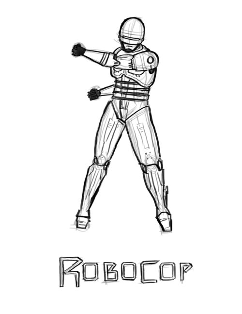robocop coloring pages - photo#10