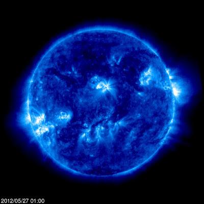 llamarada solar clase C 27 de Mayo de 2012