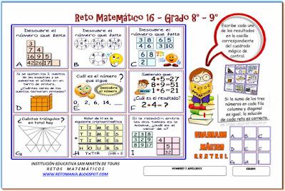 Descubre el número, El número que falta, Cuál es el número, Cuadrado Mágico, Cuadrado Mágico 3x3, Criptoaritmética, Retos Matemáticos, Desafíos Matemáticos, Problemas Matemáticos, Problemas de Lógica, Problemas para Pensar, Lógica matemática, Triángulos, ¿Cuántos triángulos hay?