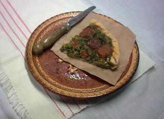 Pastel de Grelos con Chorizo