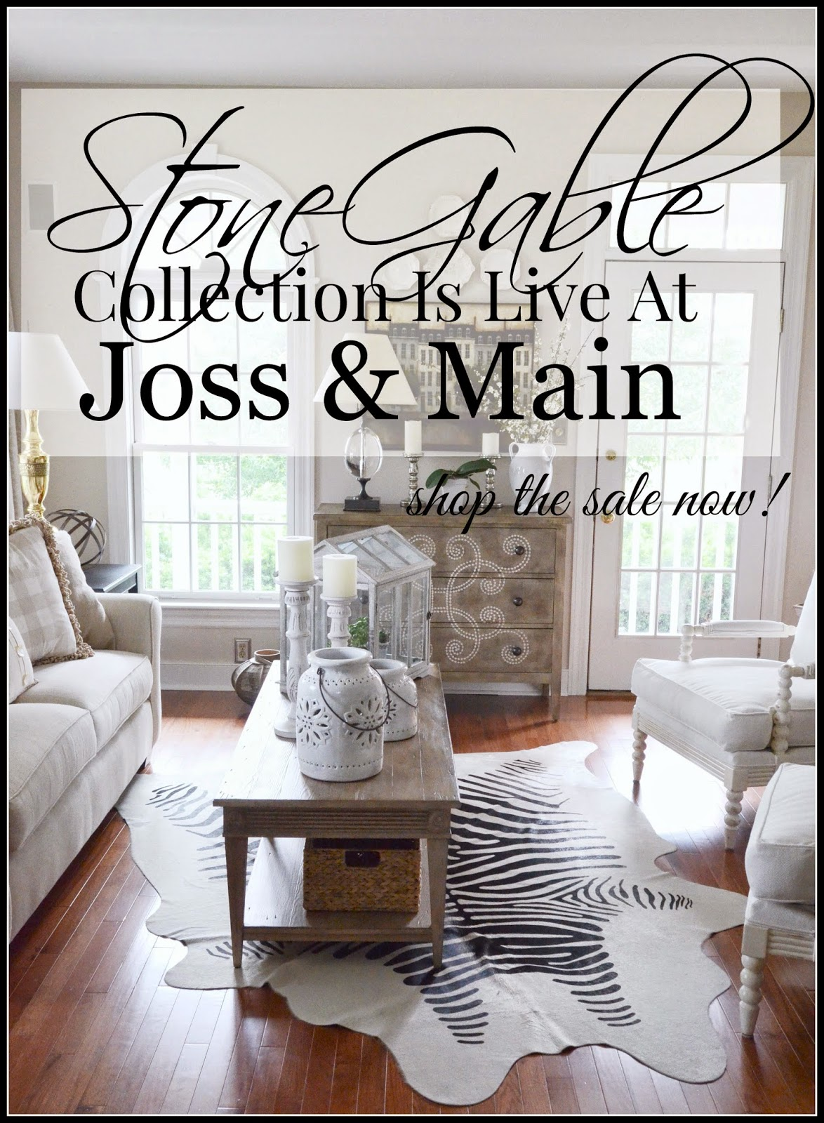 Stonegable collection is live at joss and main for Joss and main contact