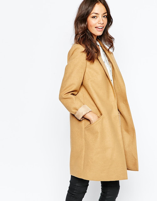 new look camel coat