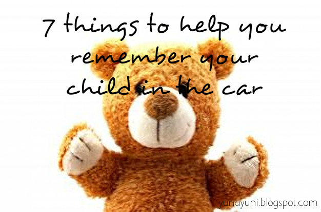How to avoid forgetting child in car