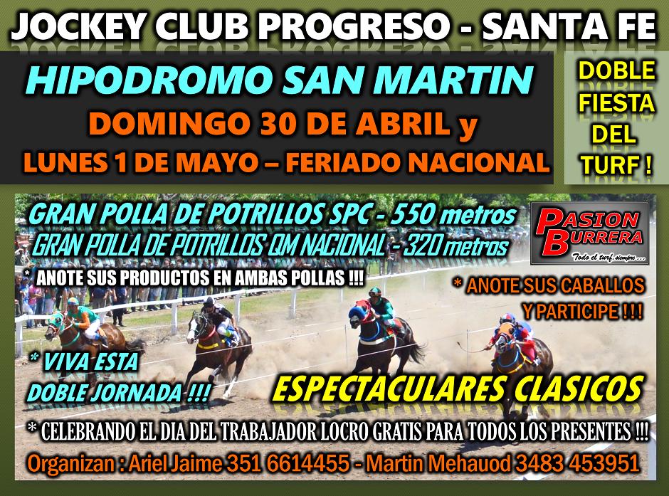 PROGRESO -30 y 1° DE MAYO
