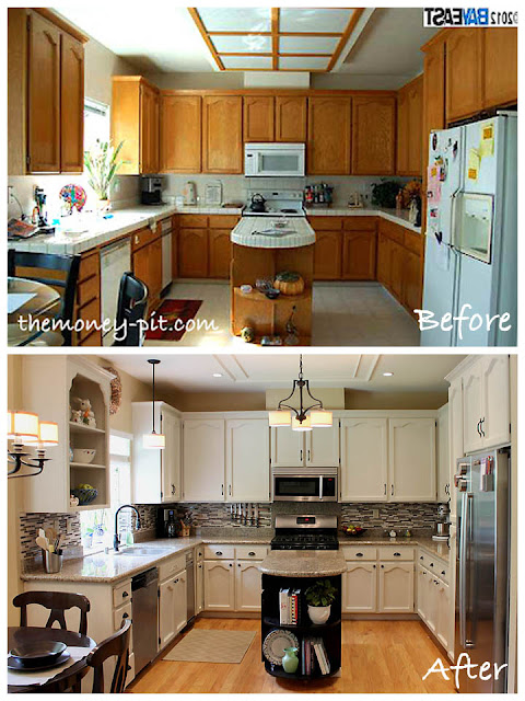 Kitchen reveal - painted cabinets