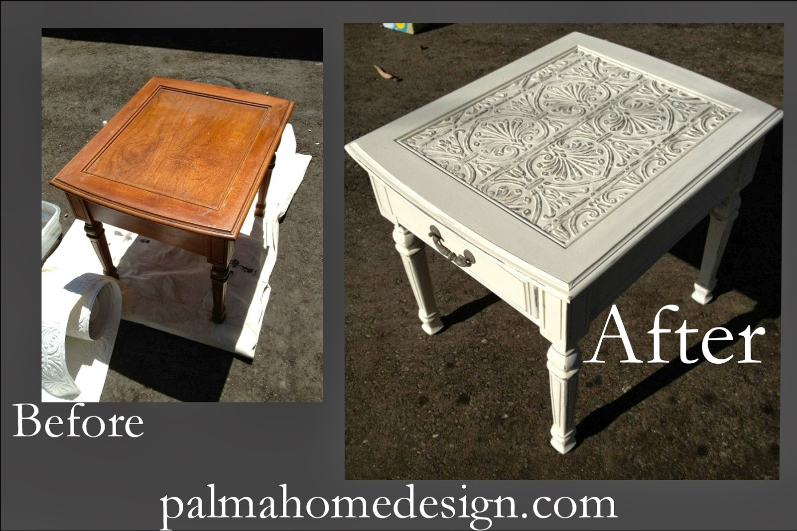 Tin Ceiling Tile End Table