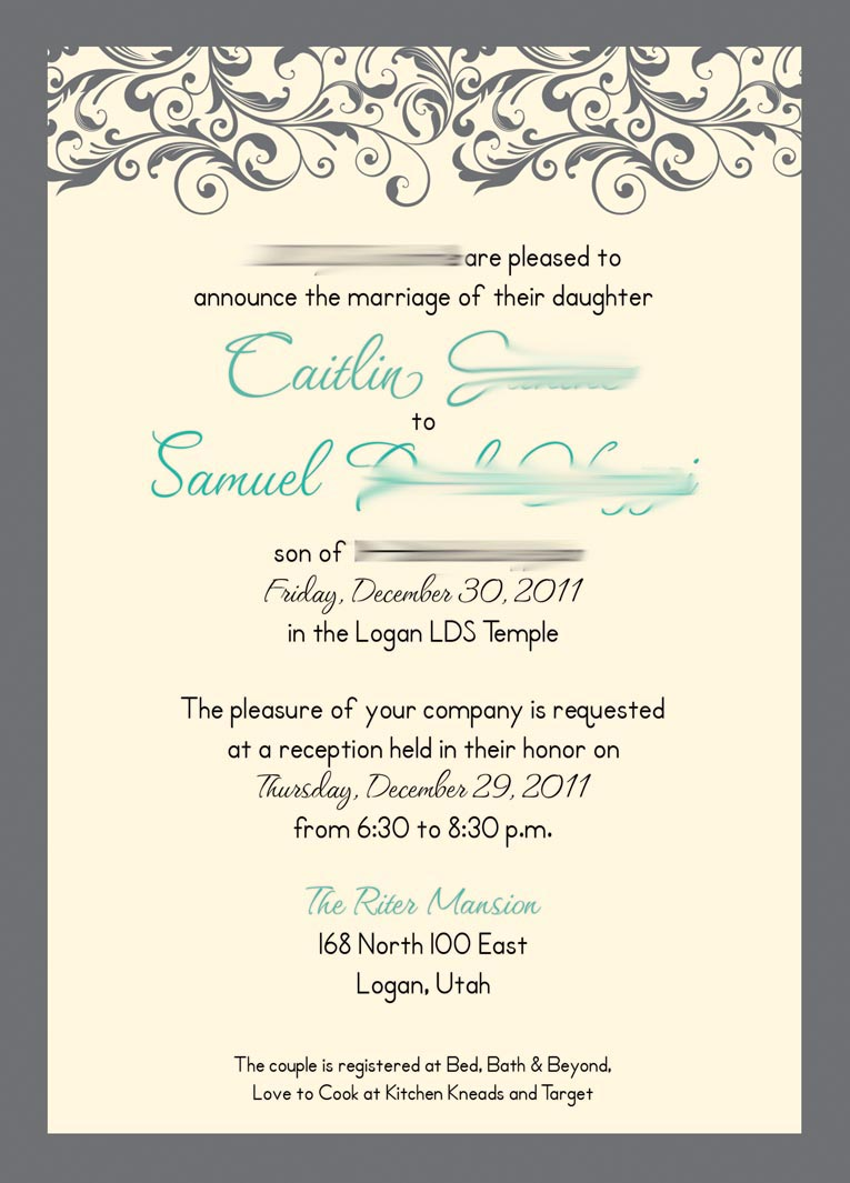 Kara S Koncepts Graphic Design Custom Wedding Invitations