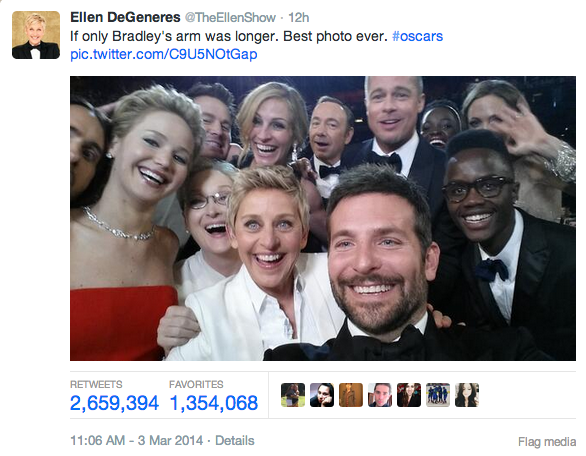 Most Retweeted Photo Ever 2 5 Million and Counting