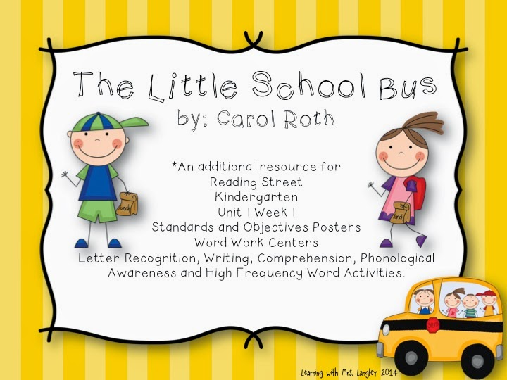 http://www.teacherspayteachers.com/Product/The-Little-School-Bus-Kindergarten-Unit-1-Week-1-1214764