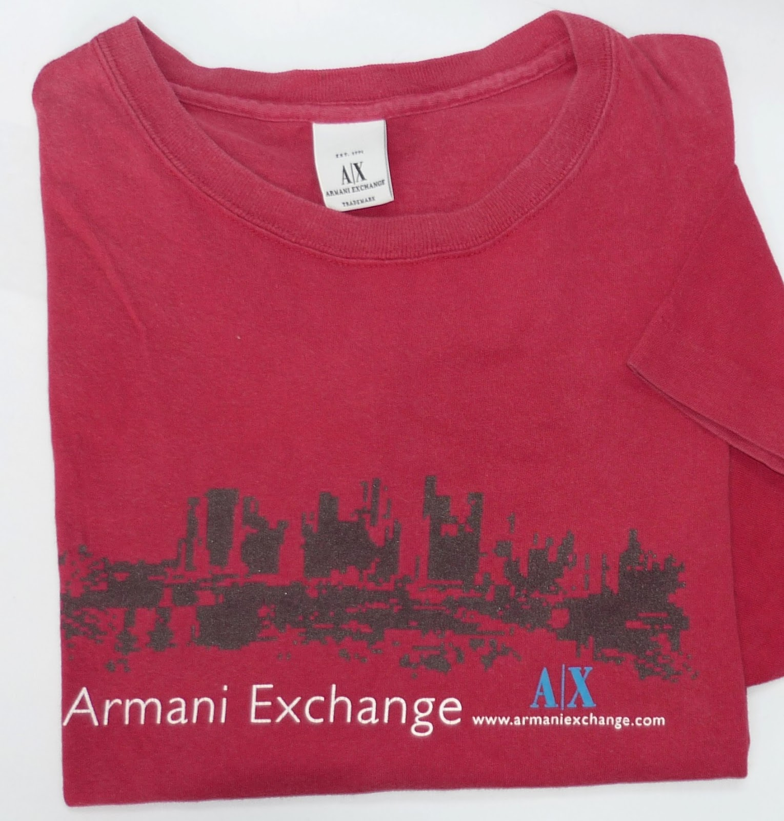 7d33aee5035 RCHYbundle  Armani exchange red tshirt USA