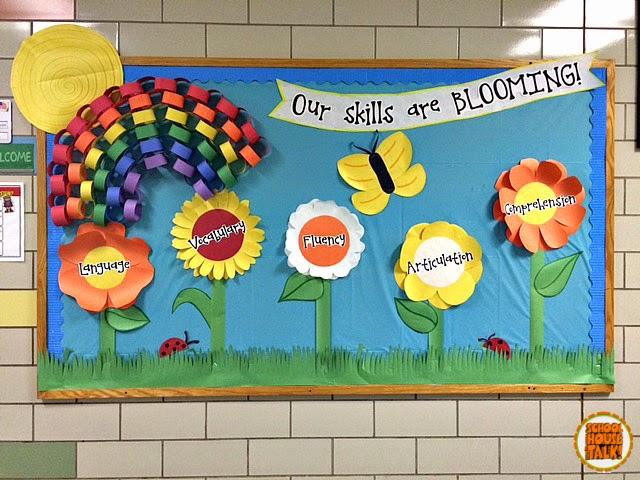 Schoolhouse Talk Spring Bulletin Board