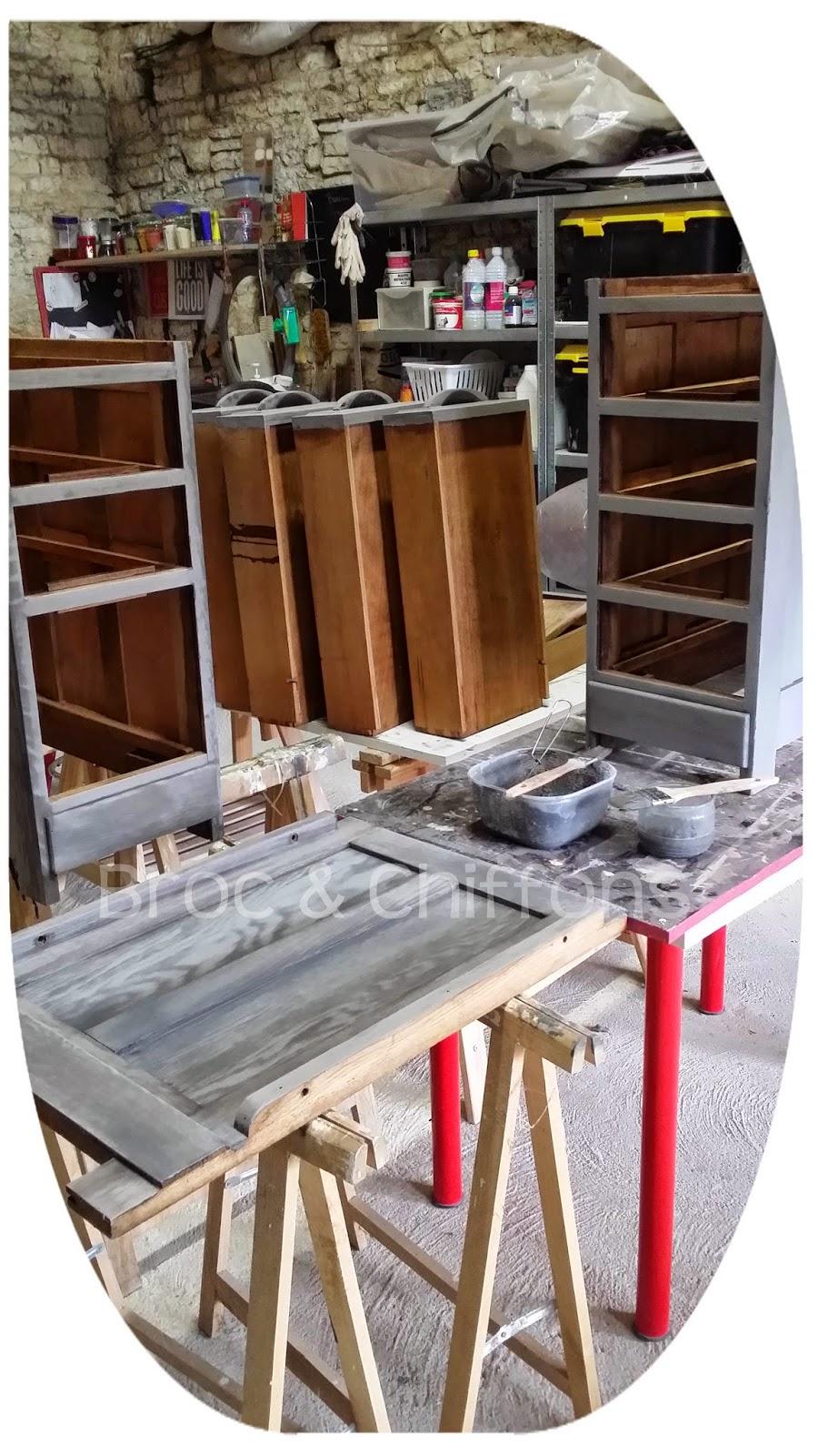 broc et chiffons relooking de meubles dans les deux s vres 79 patine l 39 ancienne bureau. Black Bedroom Furniture Sets. Home Design Ideas