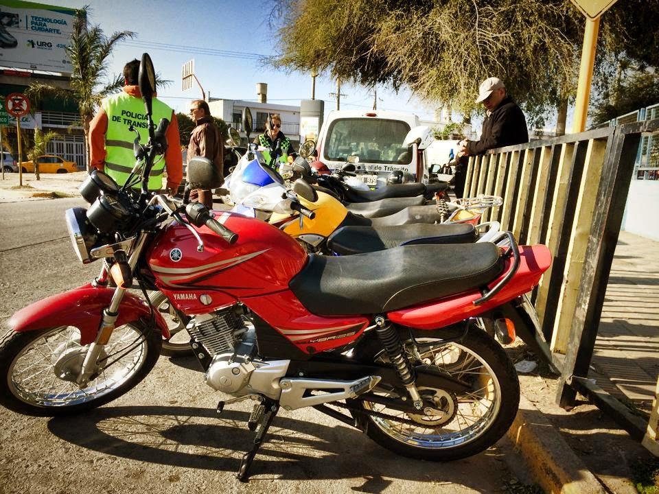 Control de motos de la PMT Córdoba