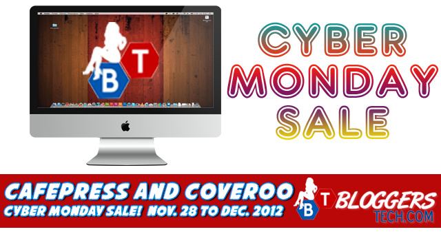 Cafepress and Coveroo - Cyber Monday Sale (Nov. 28 to Dec. 2012)