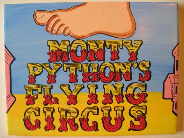 Monty Python Painted Tile - kudoskitchenbyrenee.com