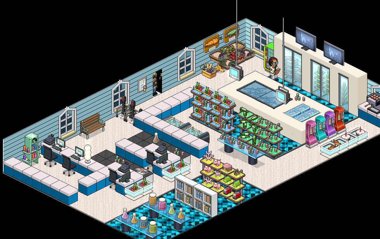 Pin habbo design super market watermielon design for Design hotel games
