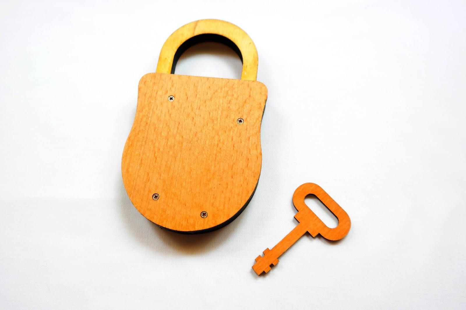 Orange lock and key