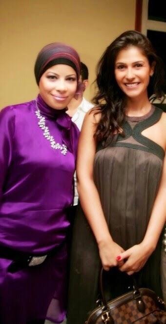 مع الفنانة بسمة عام 2009