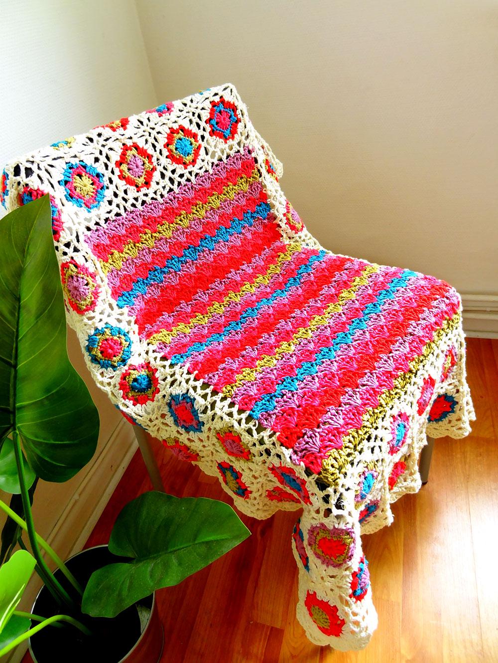 Mes favoris tricot crochet mod le plaid au crochet gratuit ziggy blanky - Modele plaid tricot gratuit ...
