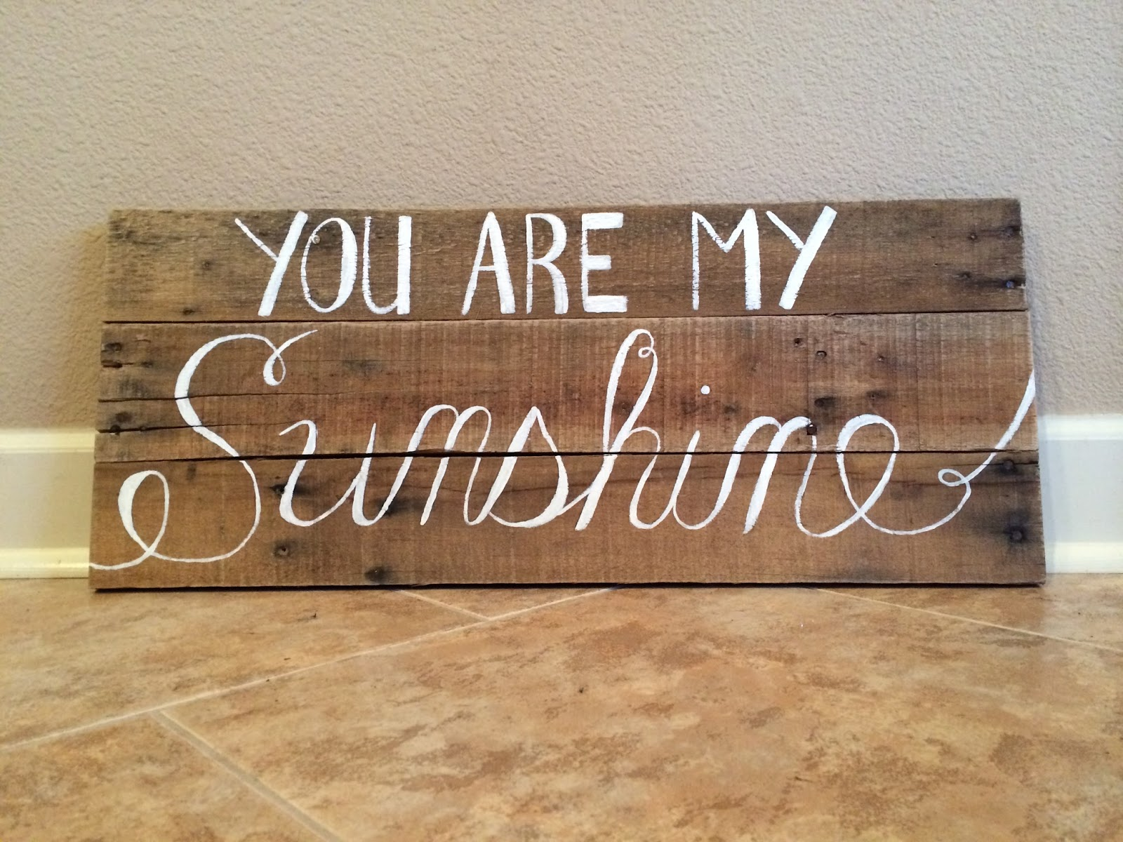 You Are My Sunshine   Quote Wall Art. Reclaimed Wood Wall Decor