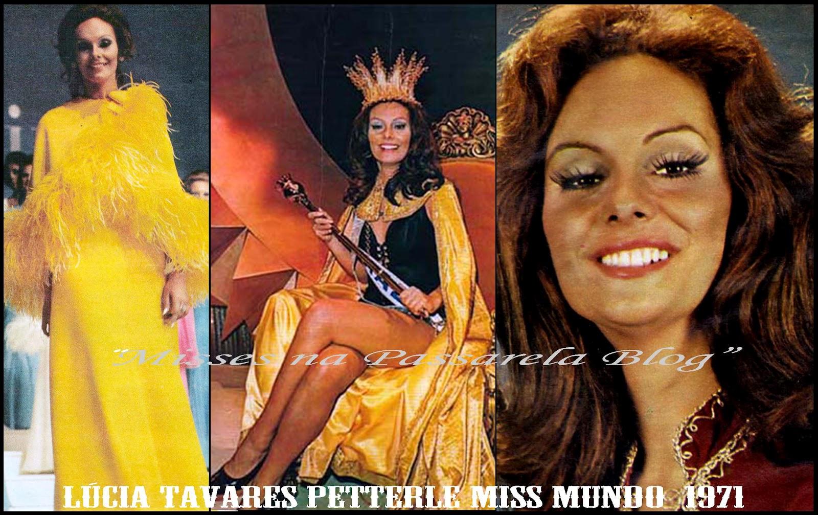 "˜*•. ˜""*°•.˜""*°••°* Lucia Petterle, Miss World 1971. ˜*•. ˜""*°•.˜""*°••°* L%C3%BAcia+Petterle+71"