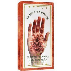 Henna Tattoos Earth Henna Body Painting Kit