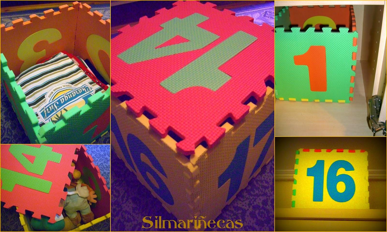 cómo hacer una caja de almacenaje de una alfombra de puzzle de goma eva