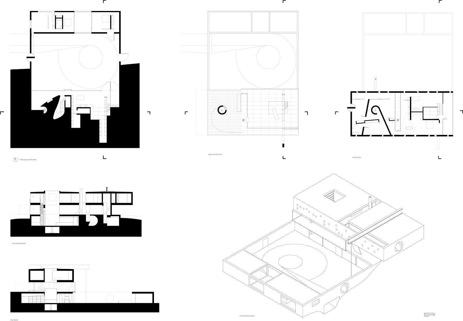 Arch 1201 submission bordeaux house plans steven surya angga for Maison de l architecture bordeaux