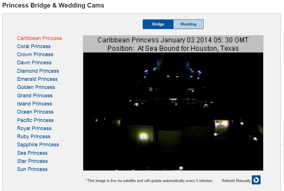 Princess Cruise Webcams And Positions Marine Vessel Traffic