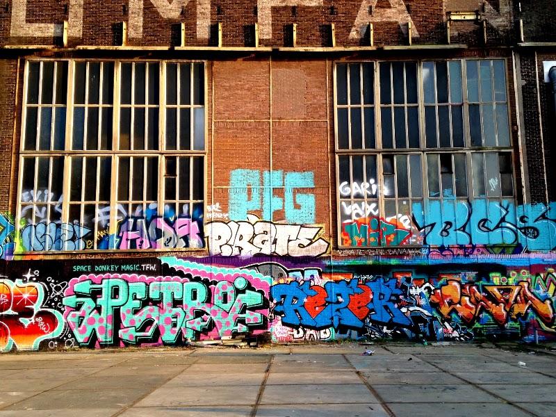 artist studio in NDSM-werf graffiti