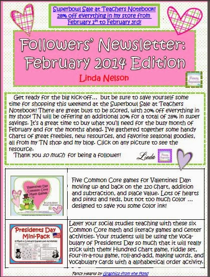 http://www.teachersnotebook.com/product/linda+n/february-2014-followers-newsletter