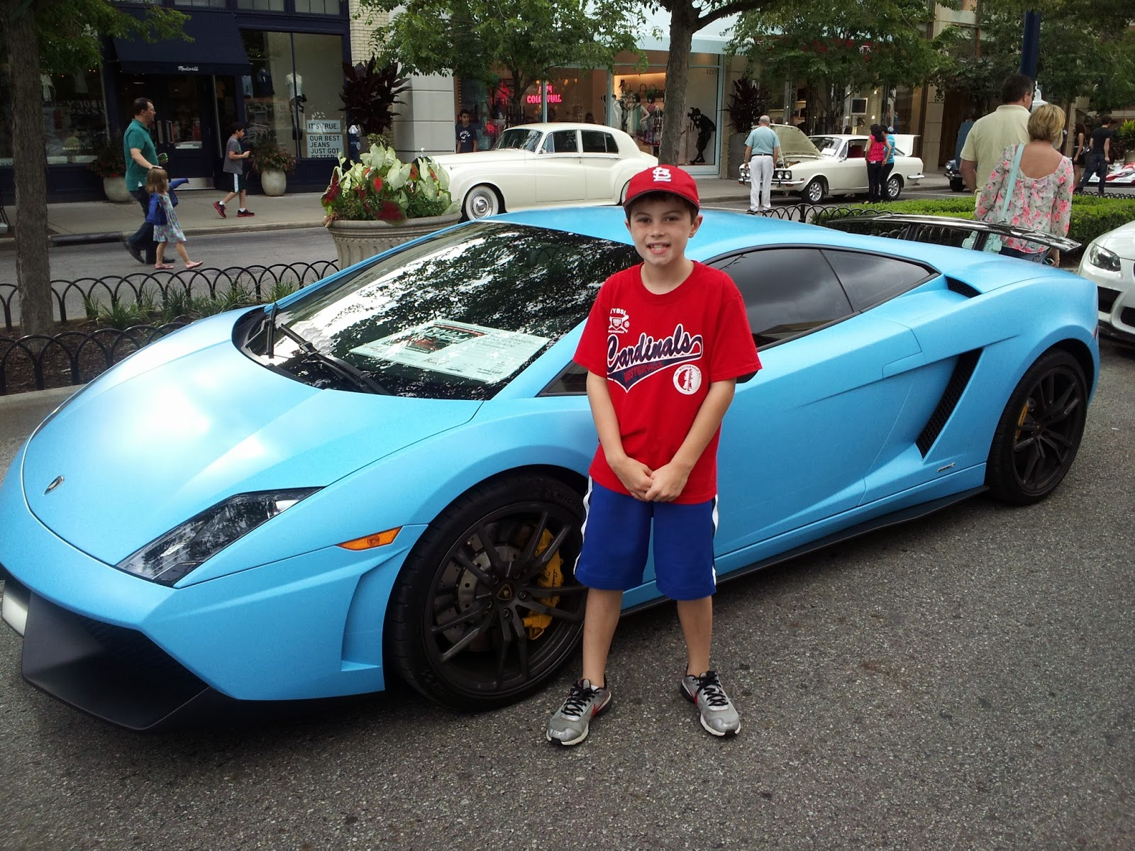 This Was At My First Exotic Car Show I Believe Is A Lamborghini Gallardo 8 Years Old But Now Am 9