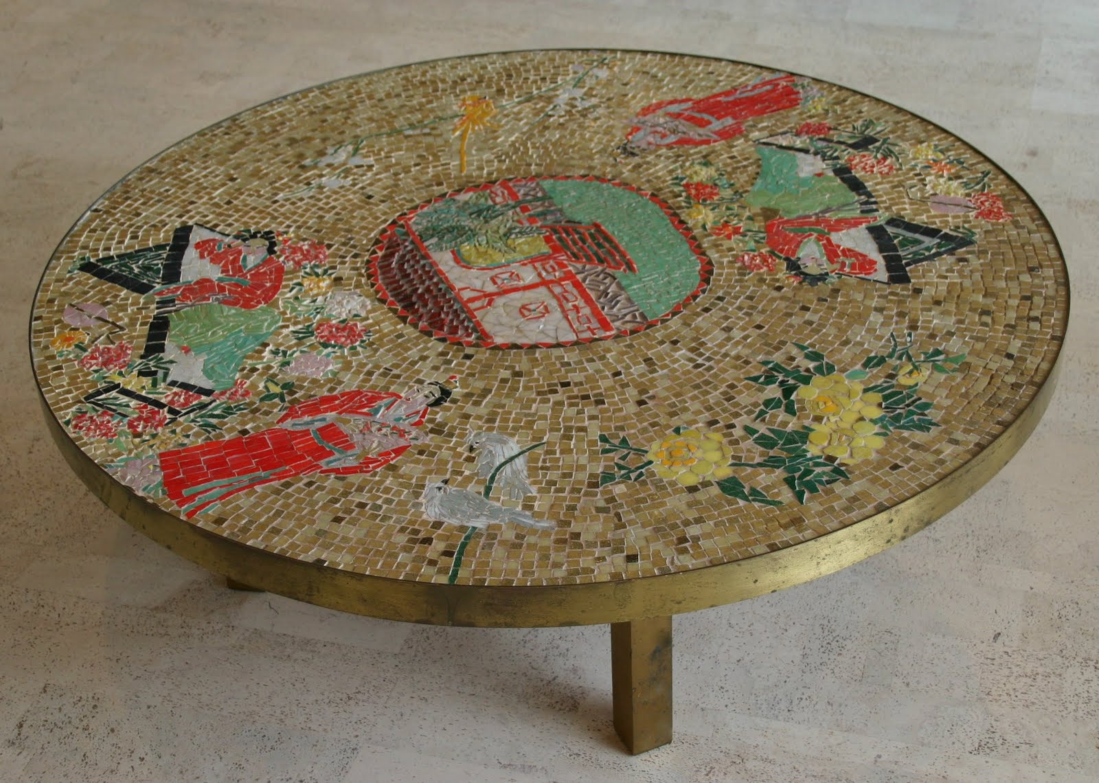 Unique VINTAGE MOSAIC COFFEE TABLE NOTHING ORDINARY ABOUT IT