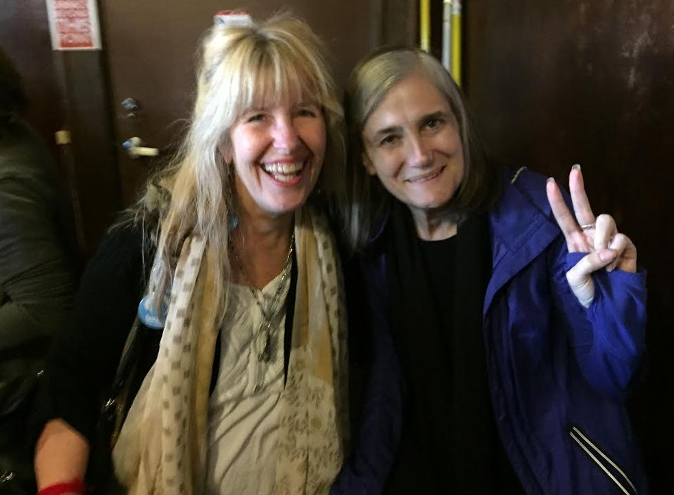 With Amy Goodman, May 2016, Portland, OR
