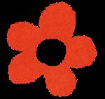 小さな花のイラスト「赤」