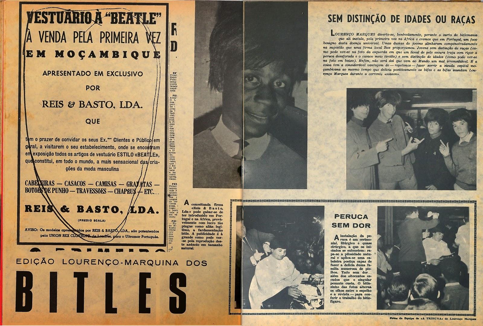 beatles forever not cia 25 de julho de 1964 a revista de angola que foi acompanhando os. Black Bedroom Furniture Sets. Home Design Ideas