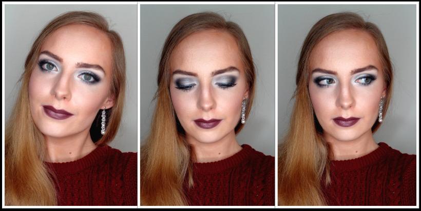 Makijaż świąteczno - zimowy