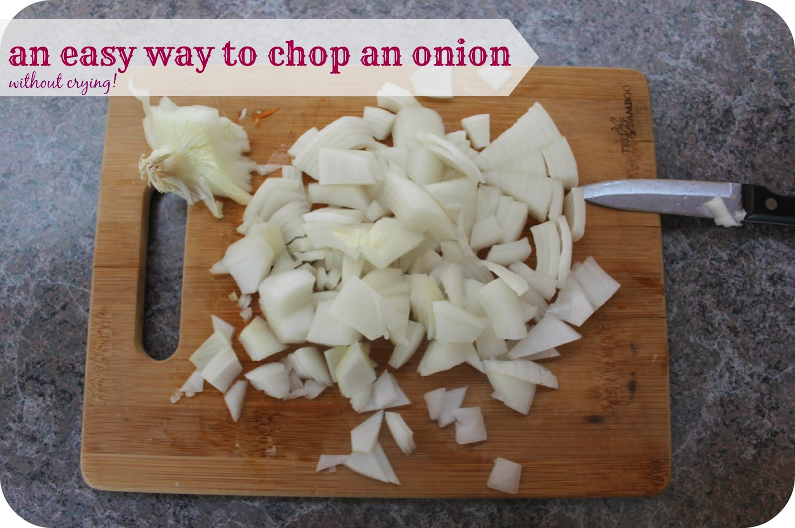 easy way to dice an onion
