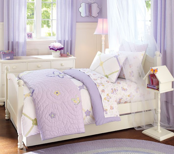 pretty purple and white bedroom for little girls this basic bedroom