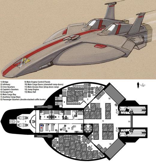 Dark Nova: Goshawk Deckplans por Breandan-OCiarrai