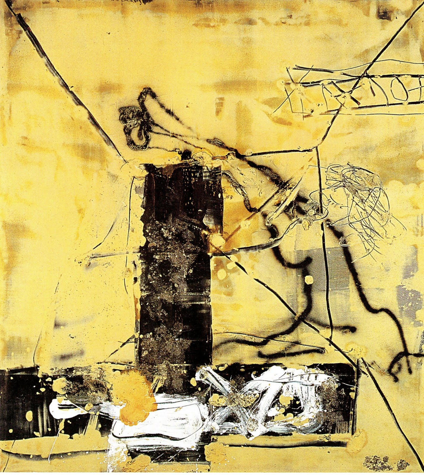 contemporary yellow wallpaper