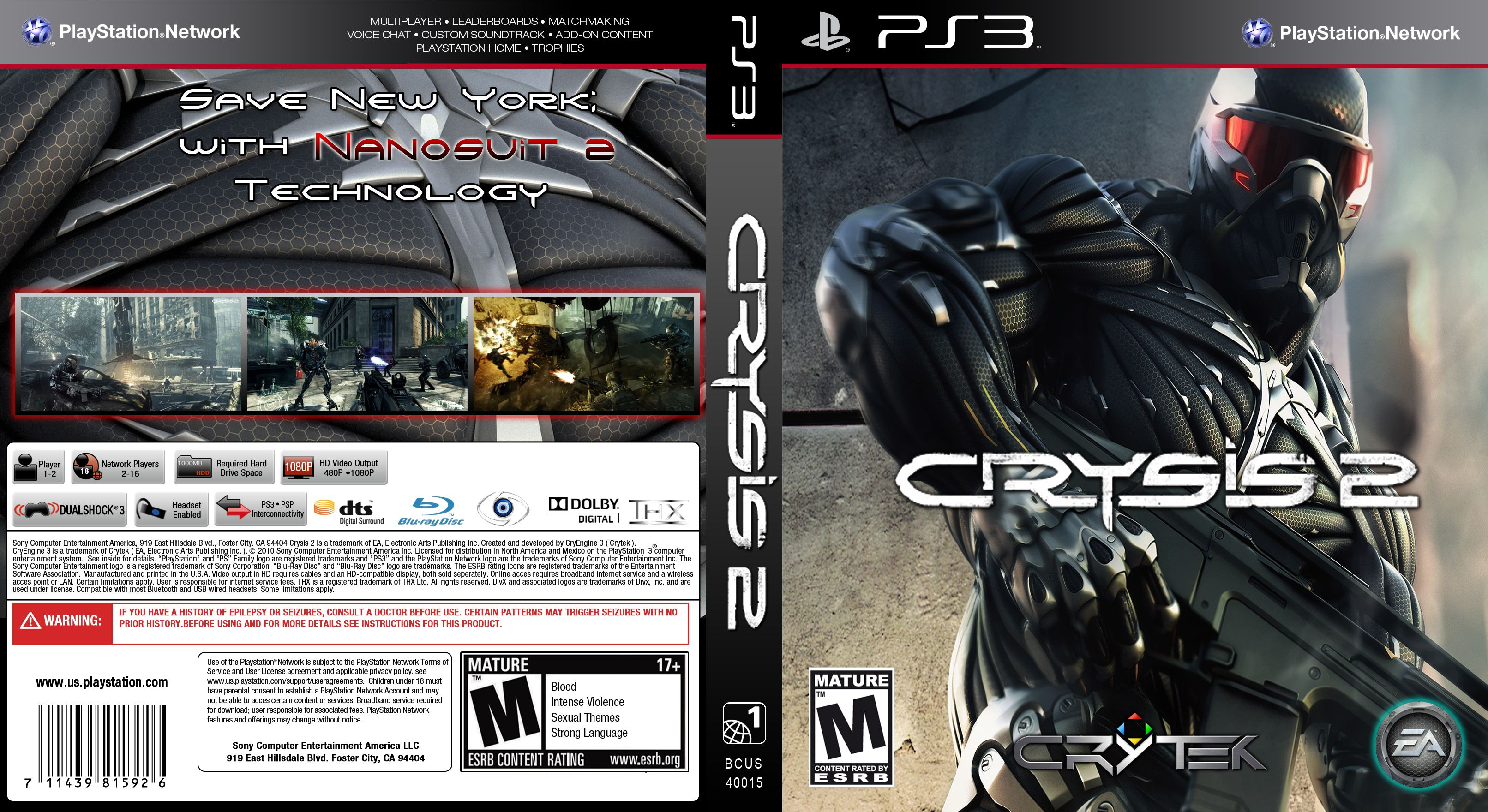 Capa Crysis 2 PS3