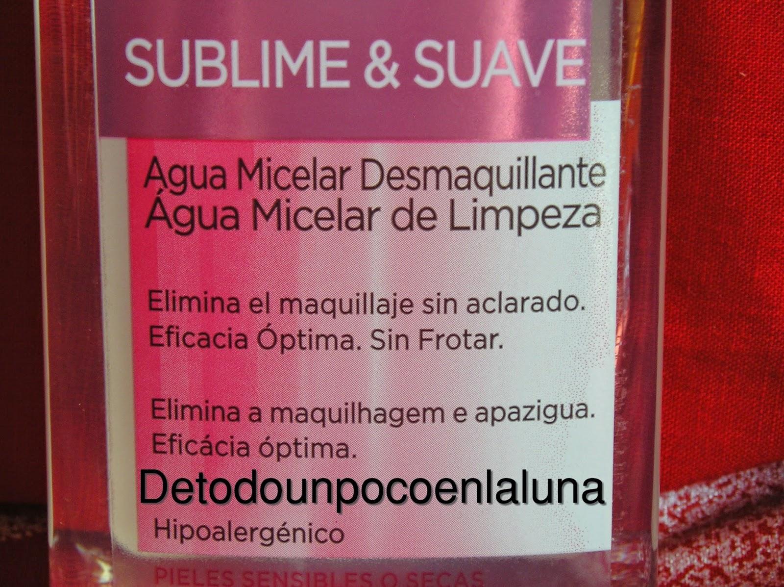 Agua Micelar piel seca y sensible Loreal