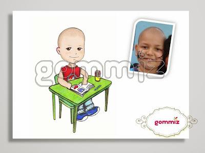 Caricatura, desenho, ilustração personalizada Gommiz