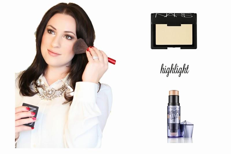 benefit-watts-up-nars-albatross-highlighting-makeup-tutorial-king-and-kind-style-holiday-makeup