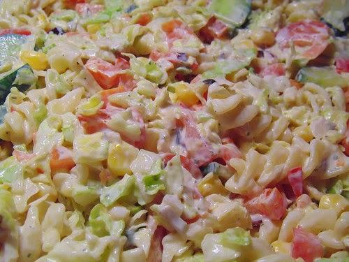 Street food cuisine du monde recette de salade de - Salade de pates jambon ...