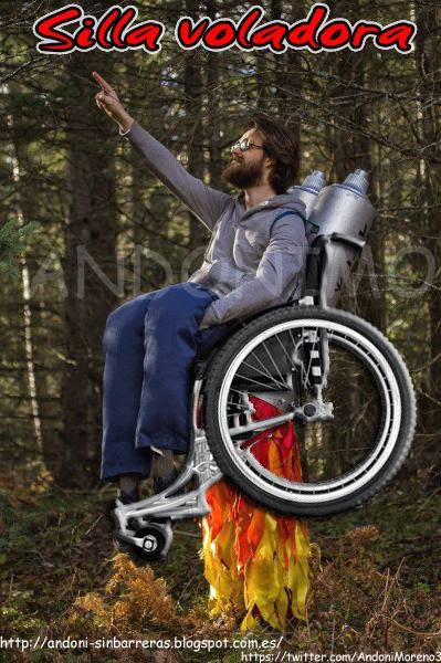 silla de ruedas voladora