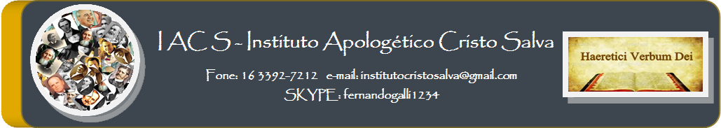 Instituto Apologético - Cristo Salva
