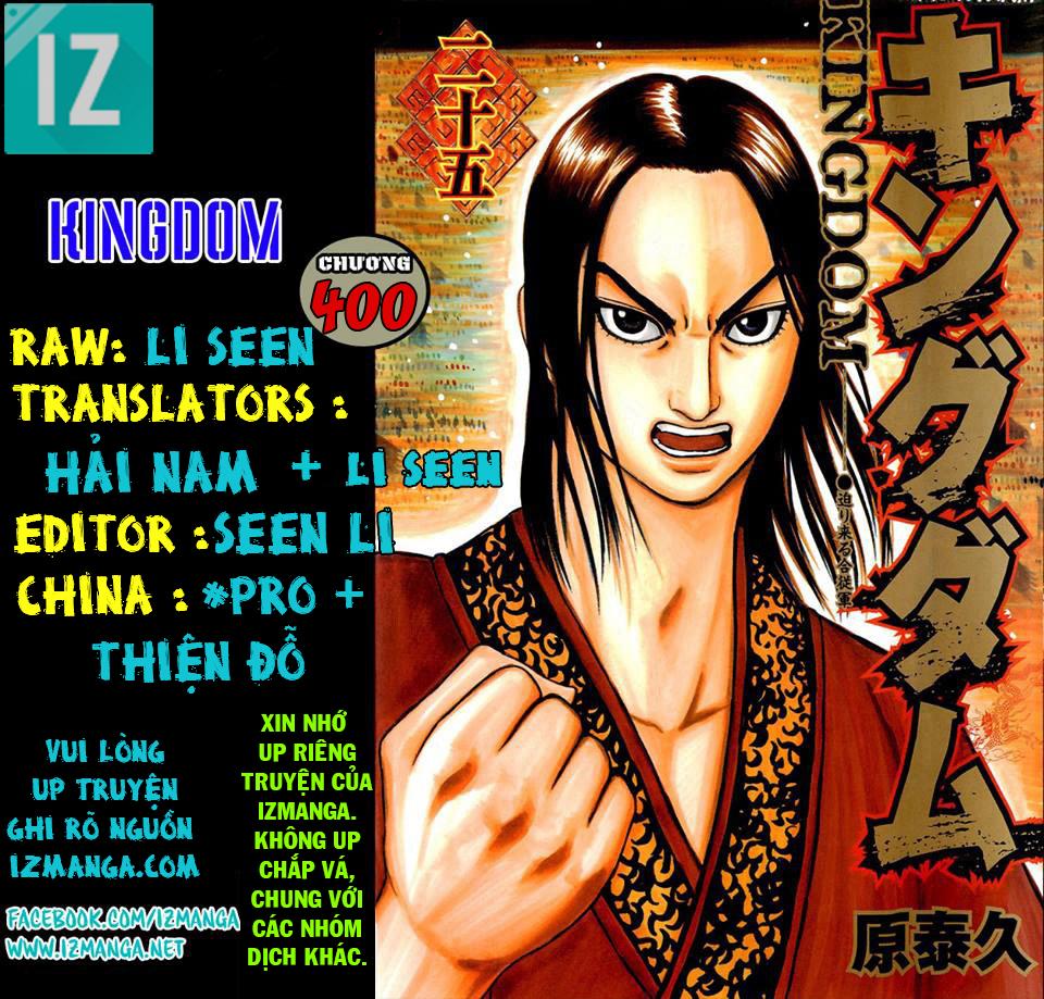 Kingdom – Vương Giả Thiên Hạ (Tổng Hợp) chap 400 page 1 - IZTruyenTranh.com